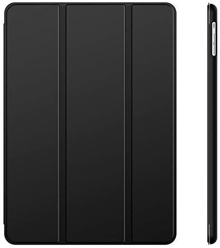 JEDirect iPad Air ケース (第1世代) レザー 三つ折スタンド オートスリープ機能 スマートカバー (ブラック)_画像1