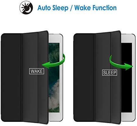 JEDirect iPad Air ケース (第1世代) レザー 三つ折スタンド オートスリープ機能 スマートカバー (ブラック)_画像4
