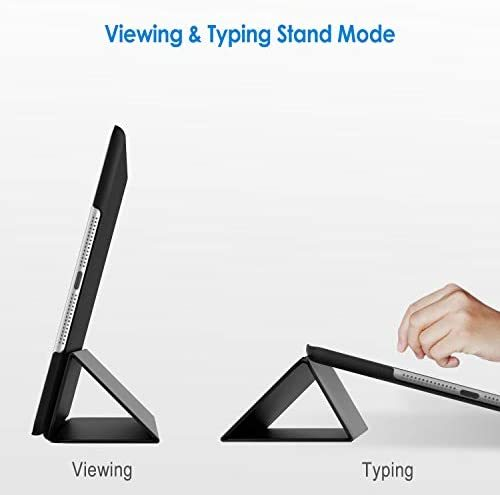 JEDirect iPad Air ケース (第1世代) レザー 三つ折スタンド オートスリープ機能 スマートカバー (ブラック)_画像3