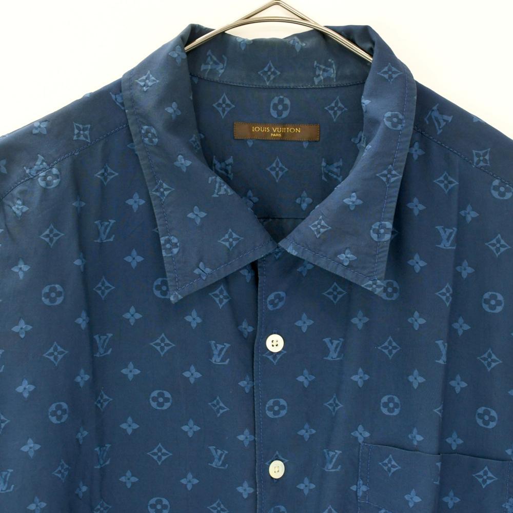 LOUIS VUITTON (ルイヴィトン) モノグラム オープンカラーシャツ_画像3
