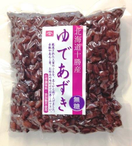 未使用・すぐ発送 【無糖!無添加!無化学調味料!】北海道産ゆであずき 小豆 250g_画像1