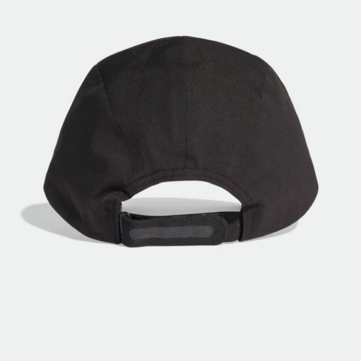 adidas アディダス ランニングキャップ UVカット ブラック 子供用