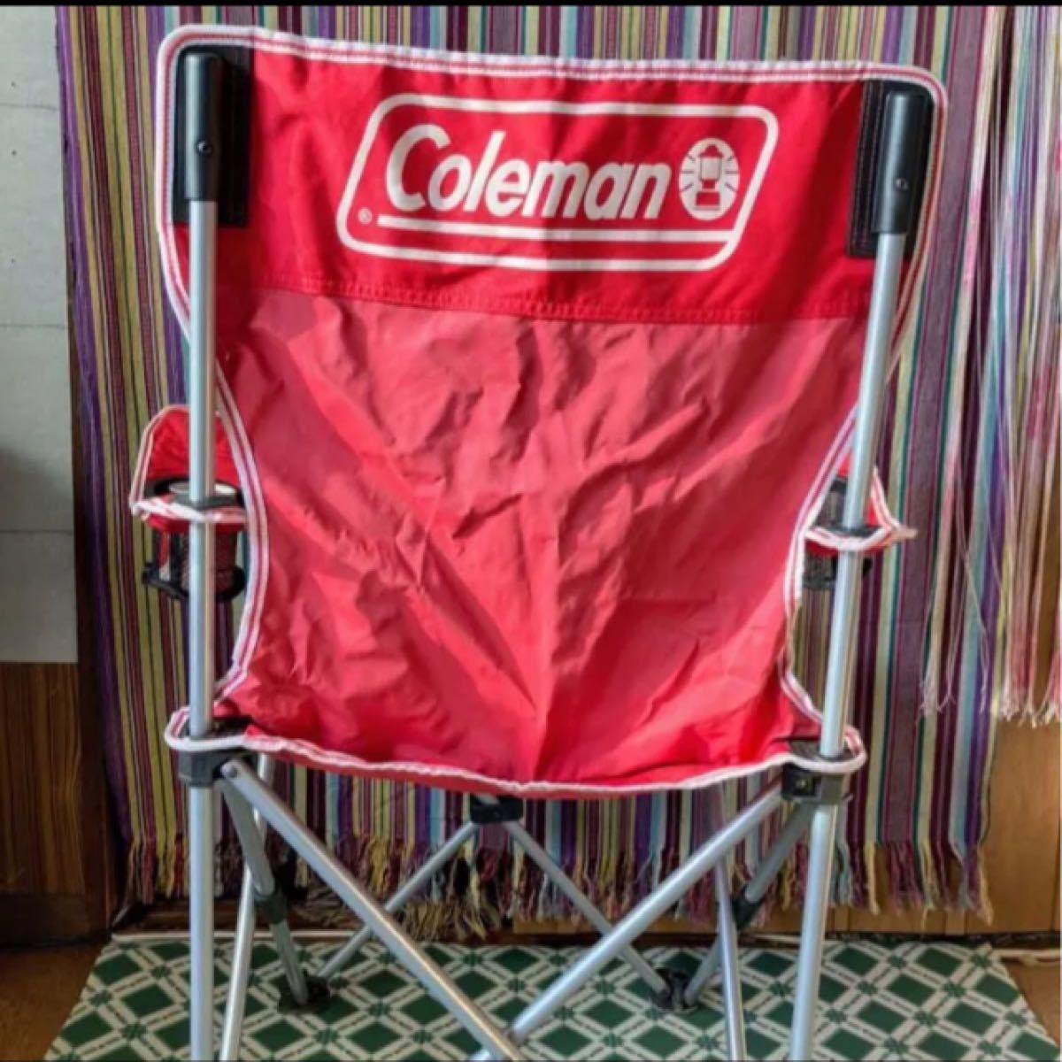 Coleman コールマン*アームチェアIII (レッド)耐荷重: 約 80kg  ドリンクホルダー両サイド付き