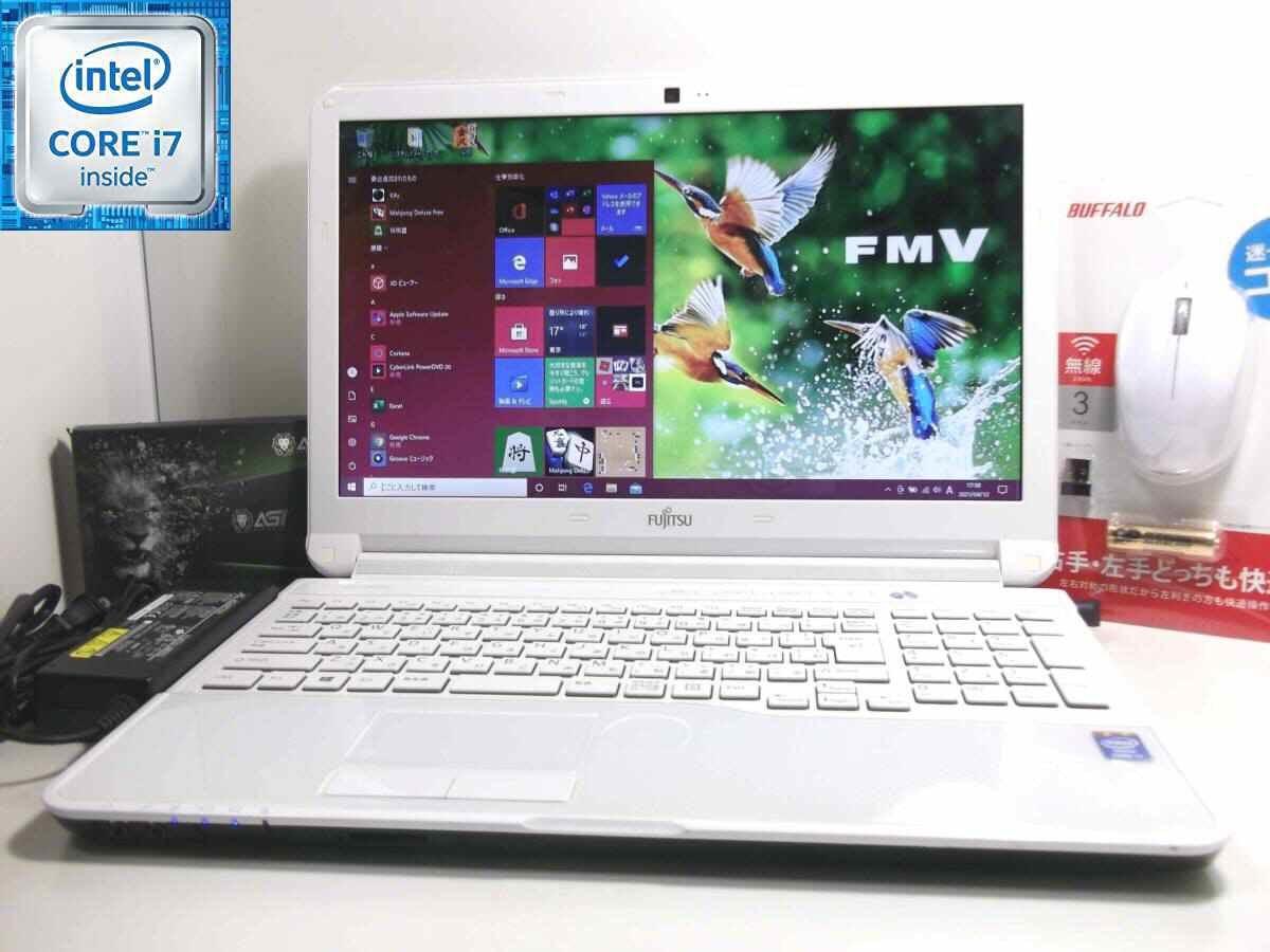 ☆高機能 Quad Core i7【新品 SSD512GB】☆LIFEBOOK AH53/J☆ ブルーレイ/ Bluetooth/ メ