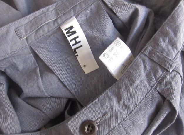 ◆マーガレットハウエル MHL.コットン タックフレアスカート_画像4
