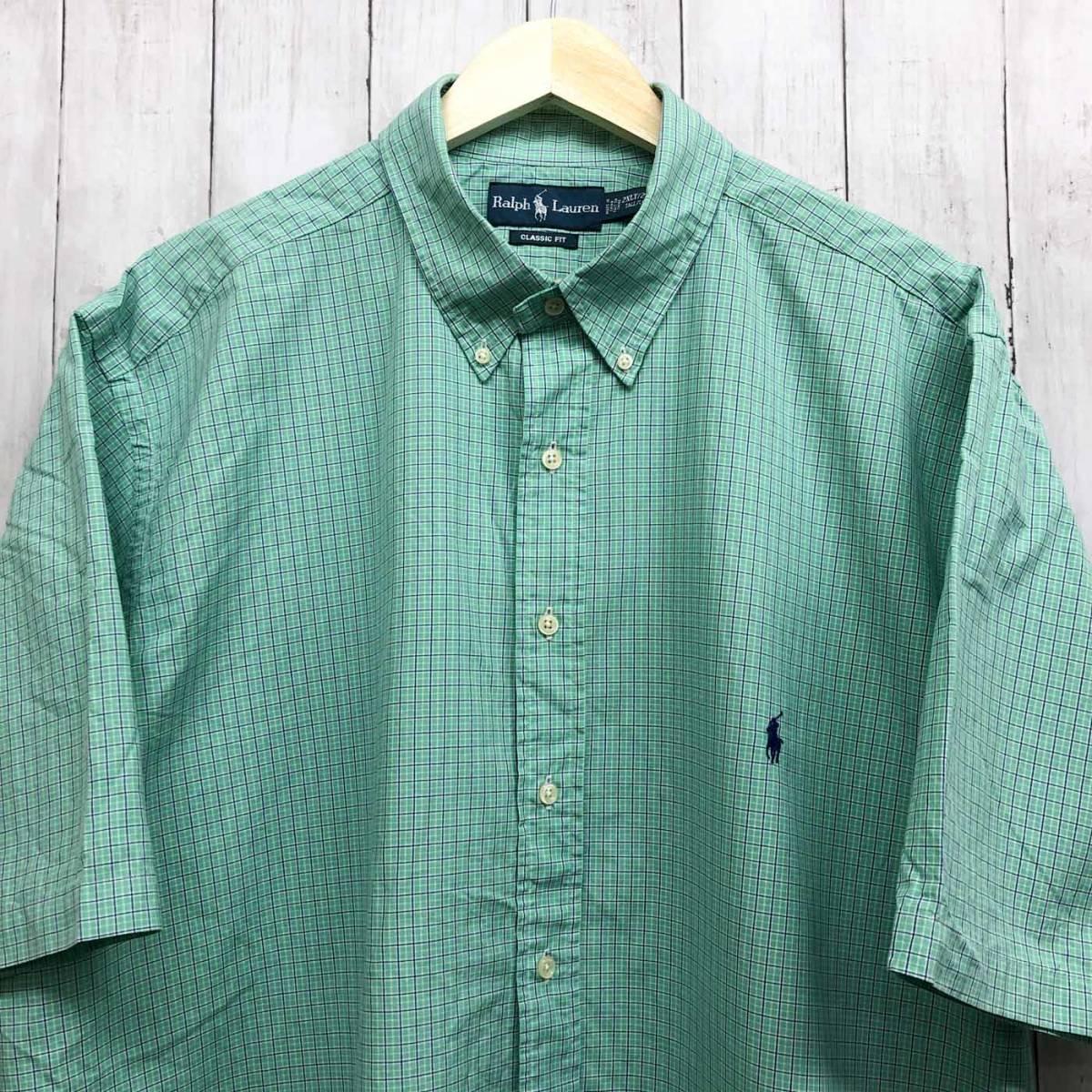 ラルフローレン POLO Ralph Lauren Polo 半袖シャツ メンズ ワンポイント 2XLサイズ (XXLサイズ) 7-152_画像1