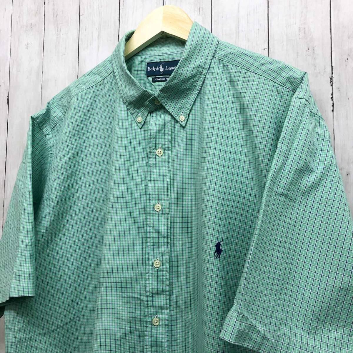 ラルフローレン POLO Ralph Lauren Polo 半袖シャツ メンズ ワンポイント 2XLサイズ (XXLサイズ) 7-152_画像2
