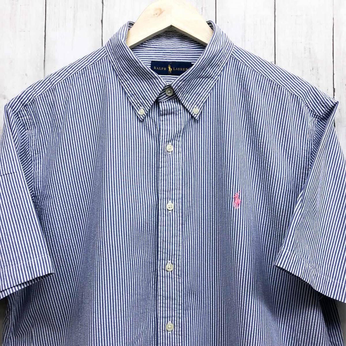 ラルフローレン POLO Ralph Lauren Polo 半袖シャツ メンズ ワンポイント XLサイズ 7-158_画像1