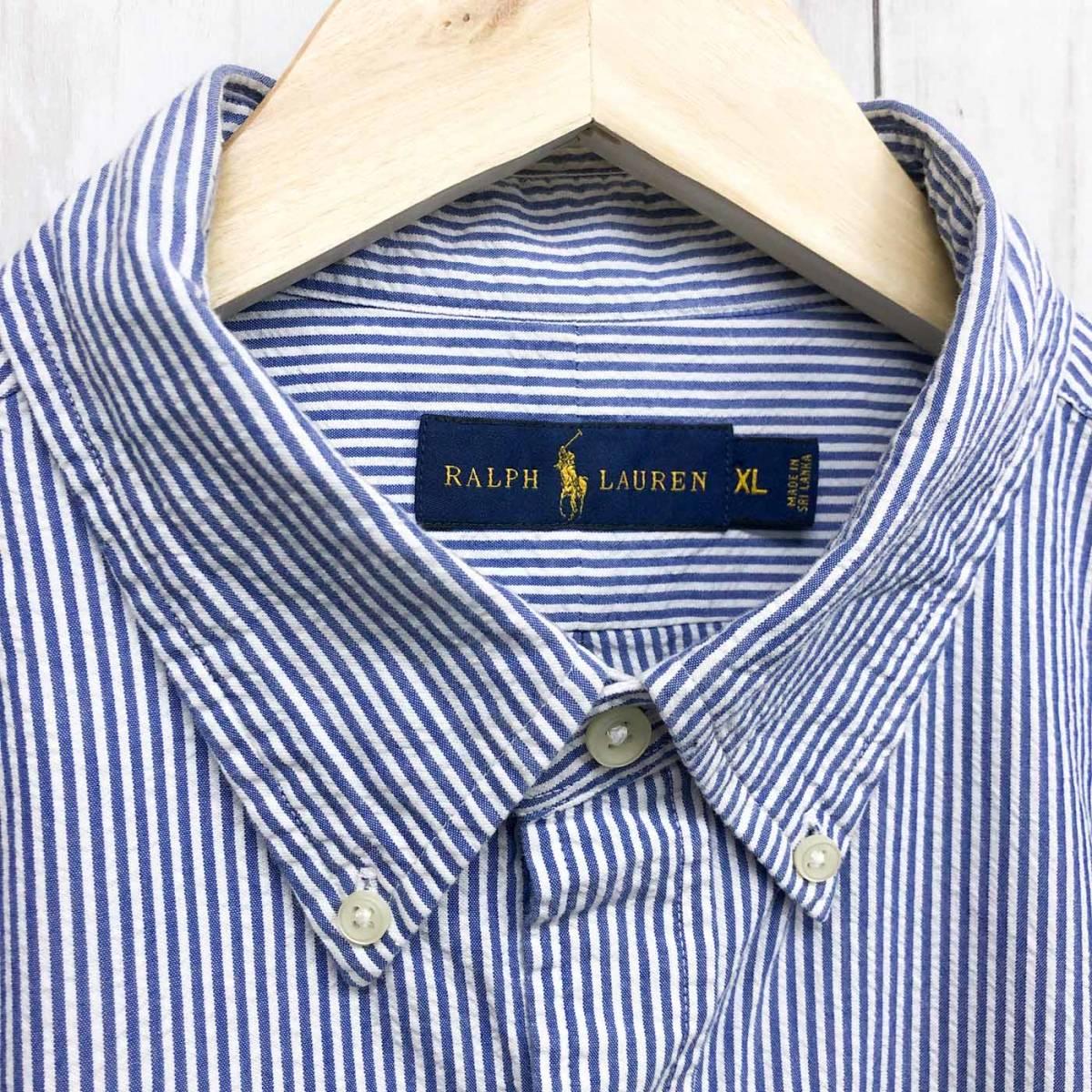 ラルフローレン POLO Ralph Lauren Polo 半袖シャツ メンズ ワンポイント XLサイズ 7-158_画像5