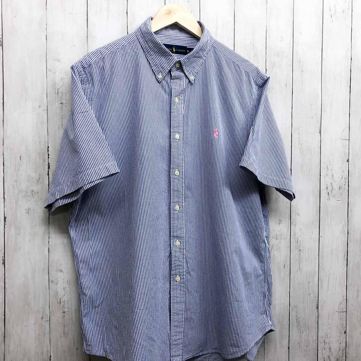 ラルフローレン POLO Ralph Lauren Polo 半袖シャツ メンズ ワンポイント XLサイズ 7-158_画像3