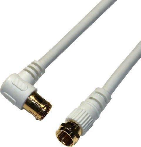 ホワイト 1m HORIC アンテナケーブル S-4C-FB同軸 1.0m ホワイト BS/CS/地デジ/4K8K放送対応 F型_画像2