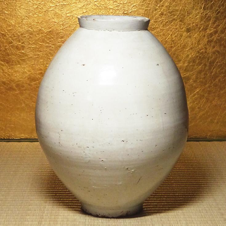 慶應◆朝鮮古陶磁 18世紀 李朝時代 分院里窯 白磁提灯壺 高さ35cm 本歌李朝白磁の名品!