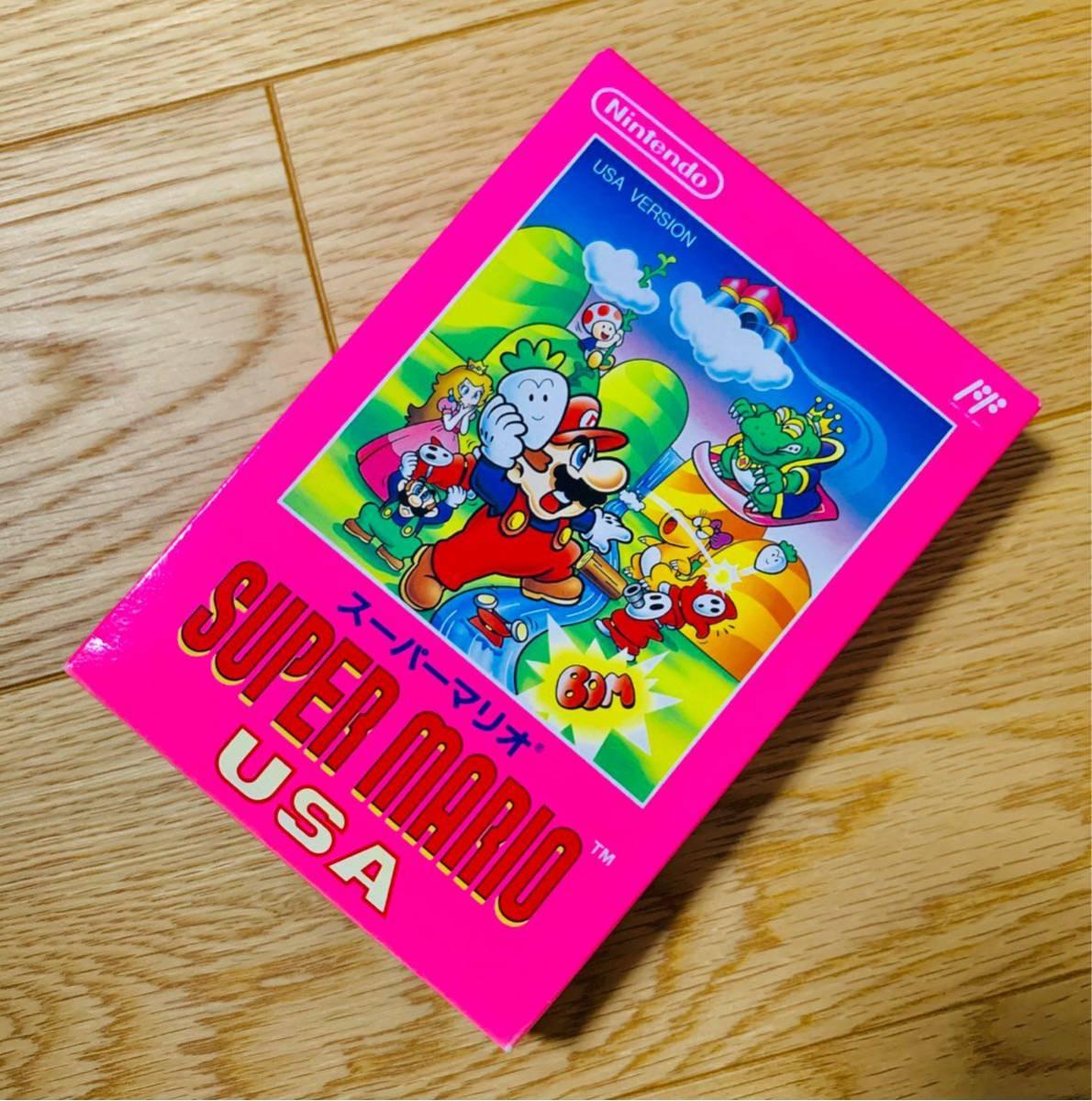 【未開封新品・超極良品】ファミコンソフト スーパーマリオUSA 任天堂 FC 1円スタート 非常に綺麗な新品 当時物 ラスト1本在庫_画像3