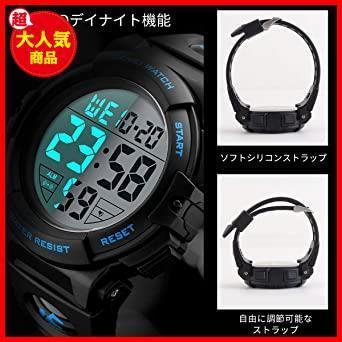 2-ブルー 腕時計 メンズ デジタル スポーツ 50メートル防水 おしゃれ 多機能 LED表示 アウトドア 腕時計(ブルー)_画像4