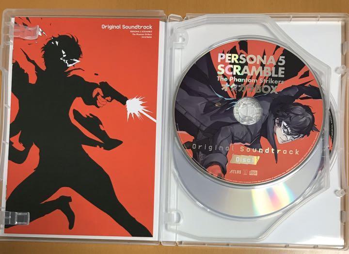 ペルソナ5 スクランブル ザファントムストライカーズ サウンドトラック CD&BD 主題歌メイキングムービー Blu-ray Disc Persona5 動作確認済
