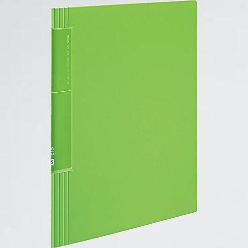 新品 未使用 ファイル コクヨ 8-9E ライトグリ-ン ラ-TN560LG クリヤ-ブック ノビ-タ ウェ-ブカットポケット A4 20枚_画像1