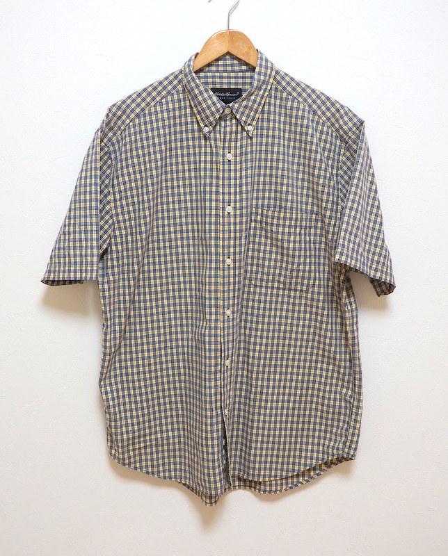 Eddie Bauer エディーバウアー ボタンダウンシャツ 半袖シャツ M コットン100%