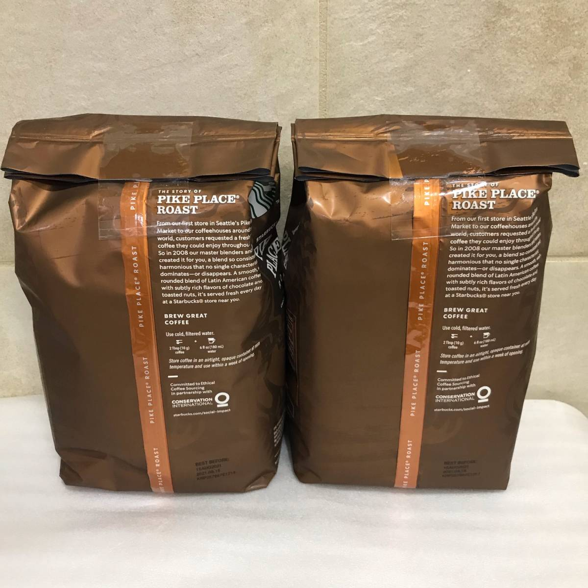 送料無料 スターバックス パイクプレイスロースト 中挽き 793g x 2袋セット Starbucks PIKE PLACE MEDIUM ROAST レギュラー コーヒー 珈琲