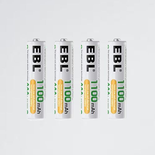 新品 未使用 単4形充電池 EBL H-Y9 単4電池充電式 防災電池 充電式ニッケル水素電池 高容量1100mAh 4本入りバッテリ_画像1