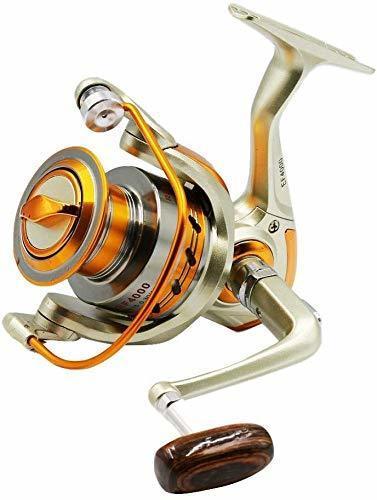 MINORIN スピニングリール 4000番 淡水釣り海釣り 金属製 軽量釣りリール 最大ドラグ力7Kg (左右交換ハンドル)リー_画像1