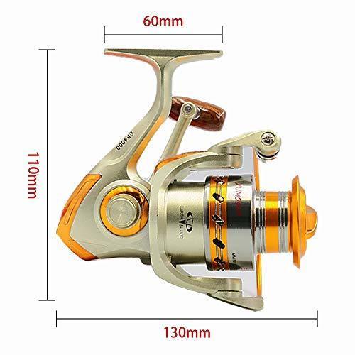 MINORIN スピニングリール 4000番 淡水釣り海釣り 金属製 軽量釣りリール 最大ドラグ力7Kg (左右交換ハンドル)リー_画像4