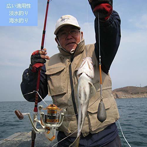 MINORIN スピニングリール 4000番 淡水釣り海釣り 金属製 軽量釣りリール 最大ドラグ力7Kg (左右交換ハンドル)リー_画像7