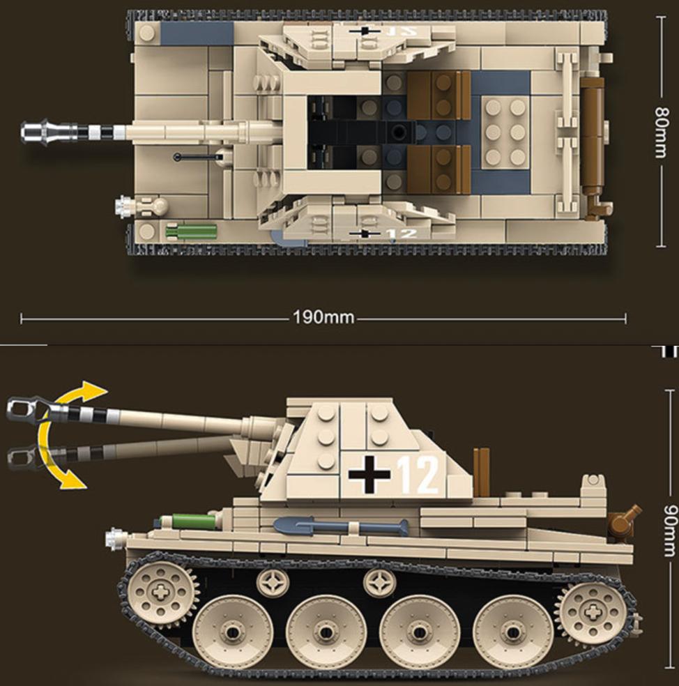 マルダーIII 第二次世界大戦期 ドイツが 対戦車自走砲 戦車 タンク ブロック ミニフィグ レゴ 互換 LEGO 互換 テクニック フィギュア_画像2