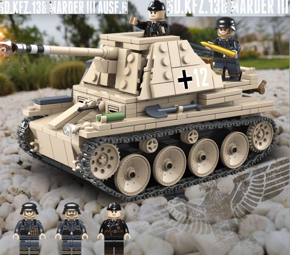 マルダーIII 第二次世界大戦期 ドイツが 対戦車自走砲 戦車 タンク ブロック ミニフィグ レゴ 互換 LEGO 互換 テクニック フィギュア_画像1