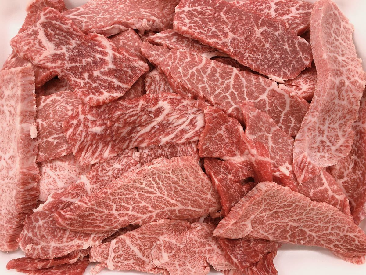 全品1円~ギフト包装 常陸牛 カタ焼肉用600g (ミスジ入り) 黒毛和牛 A-5 5_画像2