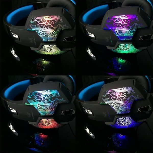 【選べる8タイプ ケーブル付き】 ゲーミングステレオヘッドホンヘッドセット 高音質 マイク LEDライト 快適装着 PC/PS4/XBOX_画像10