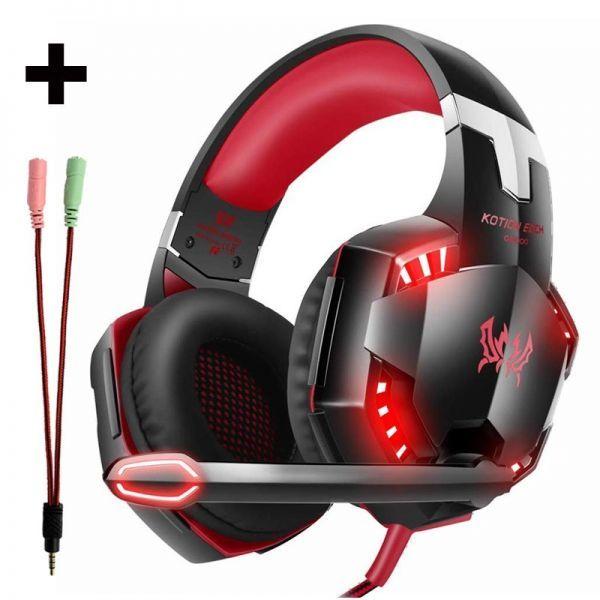 【選べる8タイプ ケーブル付き】 ゲーミングステレオヘッドホンヘッドセット 高音質 マイク LEDライト 快適装着 PC/PS4/XBOX_4