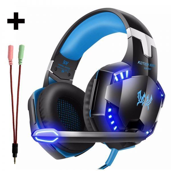 【選べる8タイプ ケーブル付き】 ゲーミングステレオヘッドホンヘッドセット 高音質 マイク LEDライト 快適装着 PC/PS4/XBOX_6