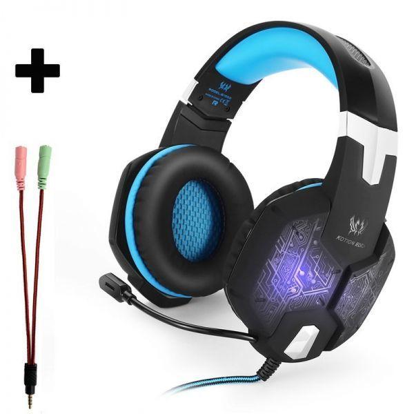 【選べる8タイプ ケーブル付き】 ゲーミングステレオヘッドホンヘッドセット 高音質 マイク LEDライト 快適装着 PC/PS4/XBOX_2