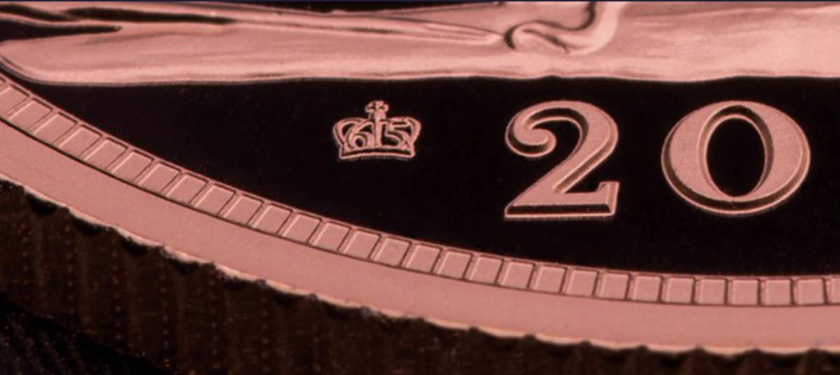 最高鑑定!! NGC PF70 UC! 初回発行150枚! 1ソブリン 金貨 サファイア アニヴァーサリ(エリザベス 2世 在位65年記念) 箱/検定書付き_王冠65の刻印