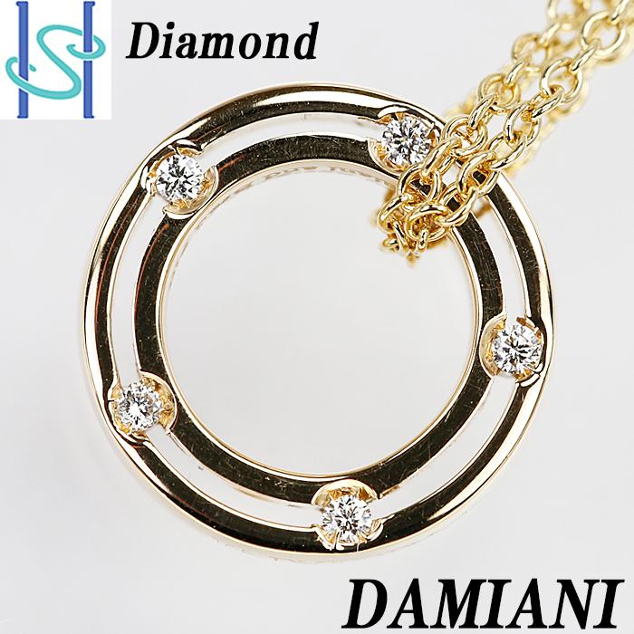 【SH58371】ダミアーニ ダイヤモンド ネックレス K18YG Dサイド ディサイド DSIDE D-SIDE DAMIANI【中古】_画像1
