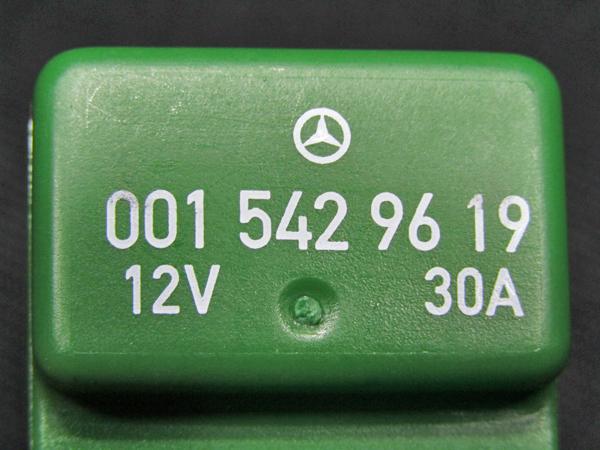 ■セール ベンツ純正品 フューエルポンプ・電動ファンリレー 4ピン緑色 30A(A0015429619)_画像9