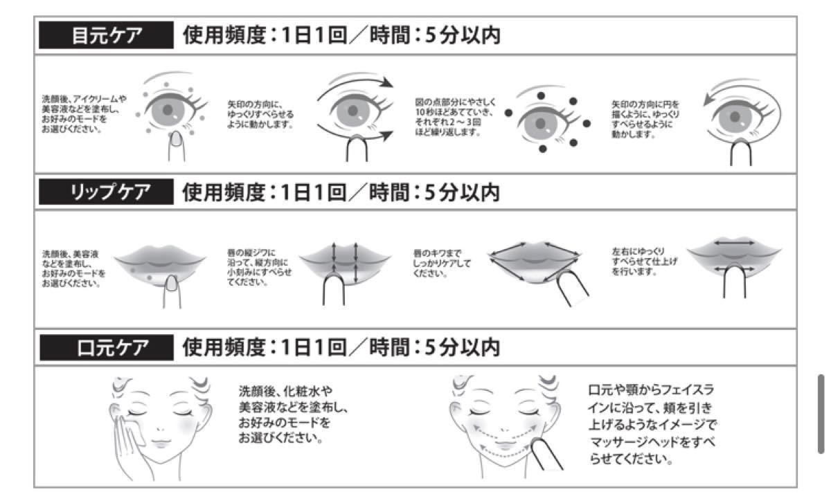 目元ケア 美顔器 温熱ケア イオン導入 リフトアップ 美顔器 光エステ 1台5役