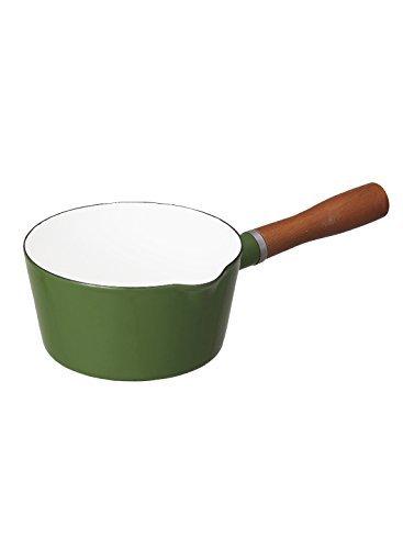グリーン 16cm シービージャパン 片手鍋 ブリティッシュグリーン IH対応 16cm ノルディカ ミルクパン ホーロー A_画像1