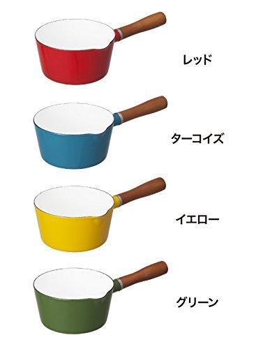 グリーン 16cm シービージャパン 片手鍋 ブリティッシュグリーン IH対応 16cm ノルディカ ミルクパン ホーロー A_画像7