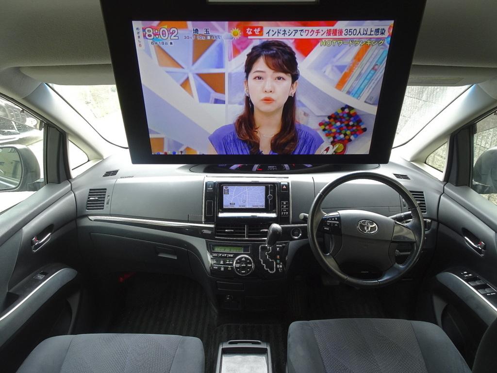 「25年式 エスティマ 後期 アエラス 実走 ナビ TV DVD再生 Bluetooth フリップモニター バックモニター 両側Pスラ スマキー クルコン HID ETC」の画像3
