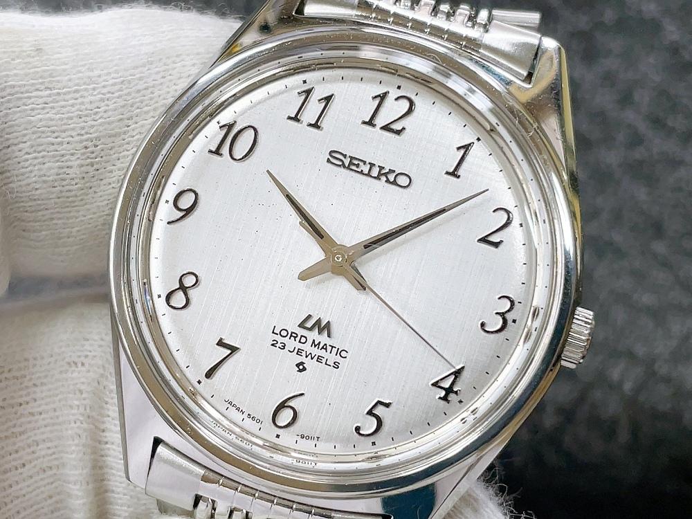 大野時計店 セイコー ロードマチック 5601-9000 自動巻 1976年7月製造 アラビア数字 絹目文字盤 希少_画像1