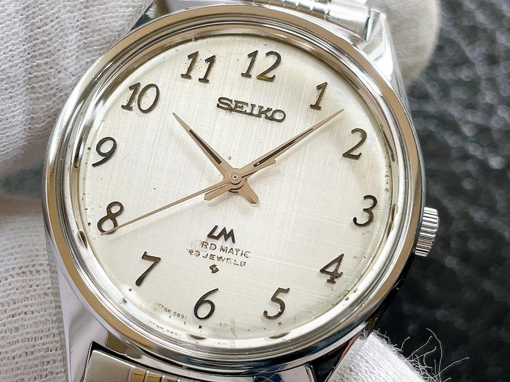 大野時計店 セイコー ロードマチック 5601-9000 自動巻 1973年12月製造 アラビア数字 絹目文字盤 希少_画像1