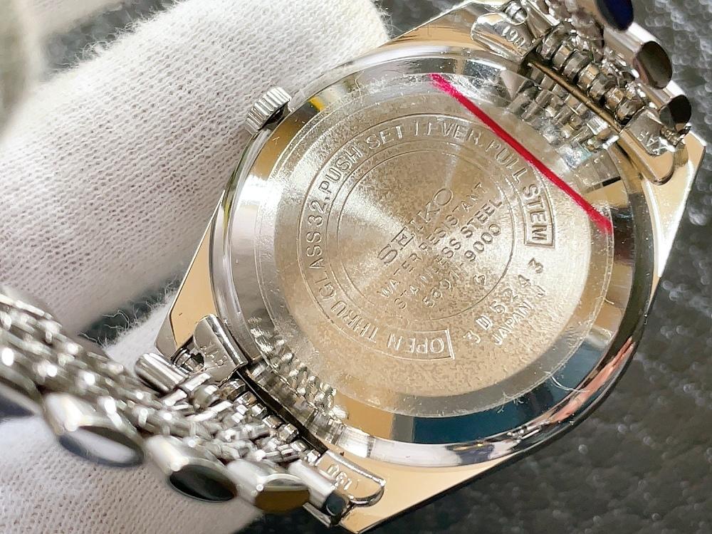 大野時計店 セイコー ロードマチック 5601-9000 自動巻 1973年12月製造 アラビア数字 絹目文字盤 希少_画像5