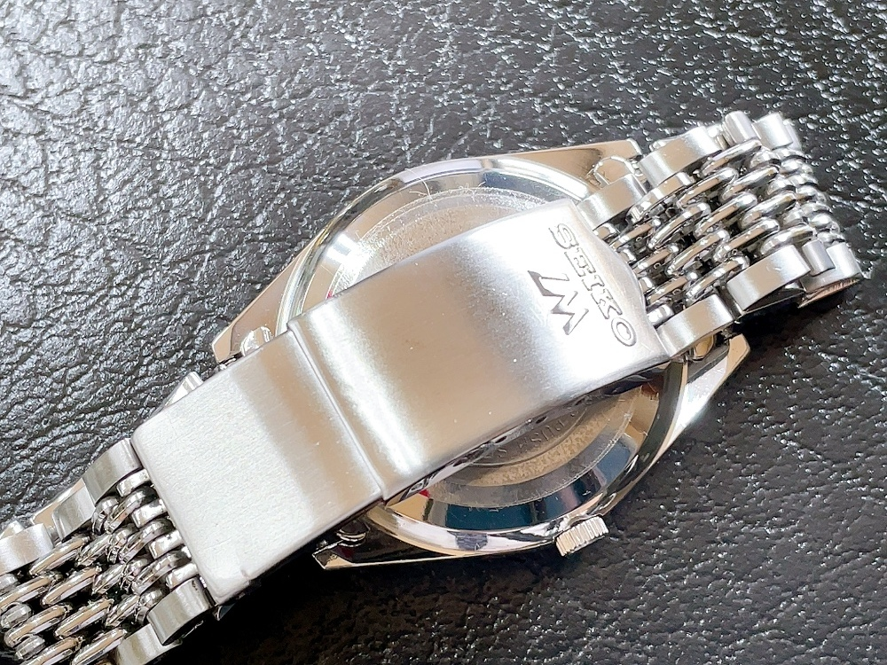 大野時計店 セイコー ロードマチック 5601-9000 自動巻 1973年12月製造 アラビア数字 絹目文字盤 希少_画像6