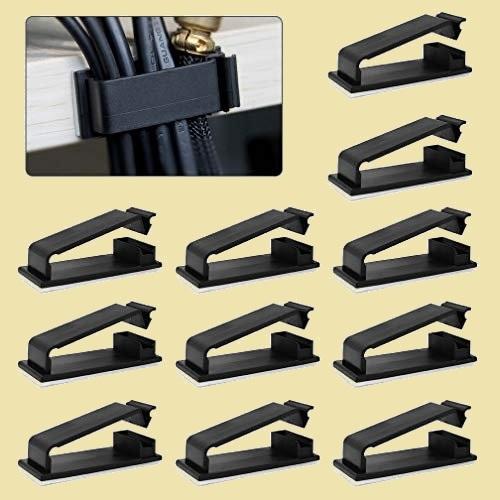 大人気 新品 未使用 新型 ケ-ブルクリップ、MAVEEK L-HG ブラック 30個入り ケ-ブルホルダ- コ-ドクリップ ケ-ブル収納_画像1