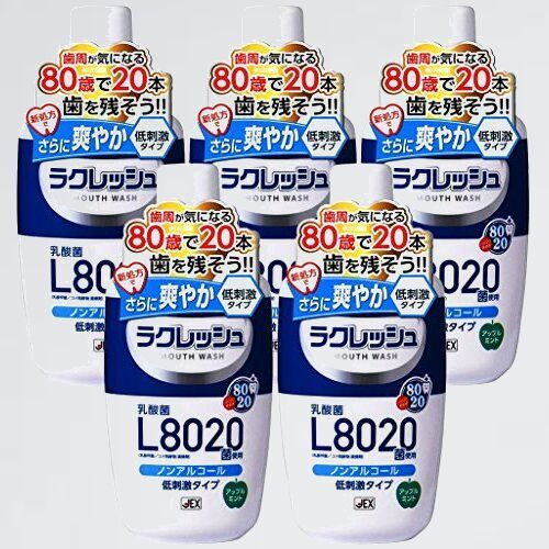 新品 好評 L8020菌 ラクレッシュ 3-VG マウスウォッシュ 5本セット_画像1