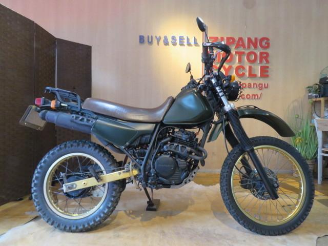 「□HONDA XLR250 MD16 ホンダ 250cc グリーン ミリタリー 実動! タイヤバリ山! 自賠R7.6 オフロード バイク 札幌発」の画像1