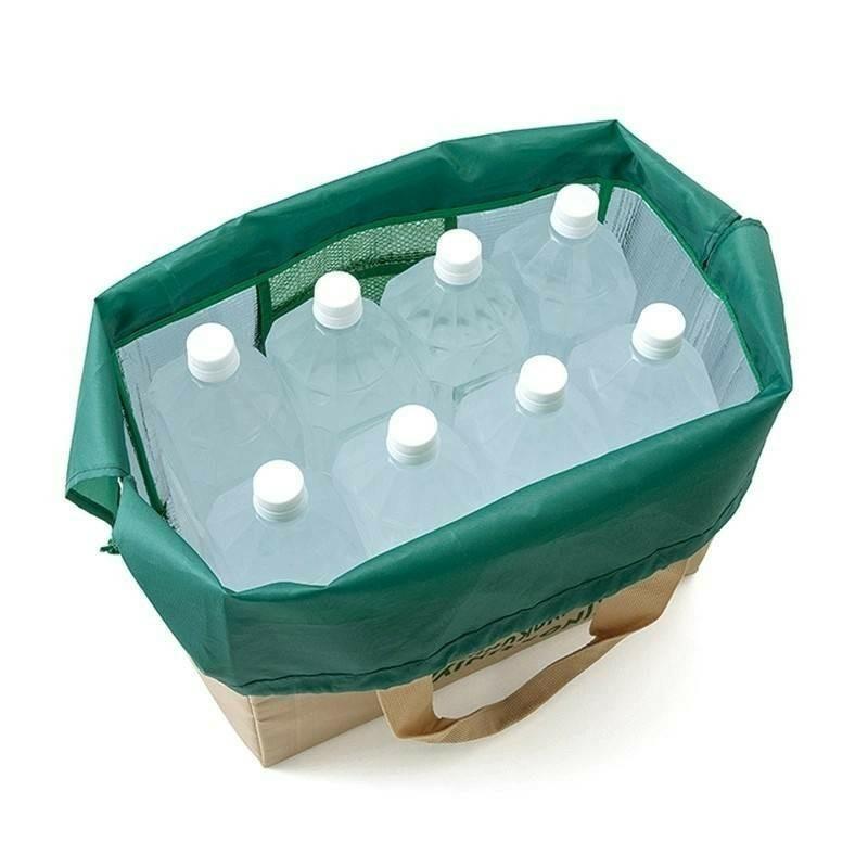 エコバッグ レジカゴバッグ レジかごバッグ トートバッグ 保冷 抗菌 撥水 黒 ベージュ
