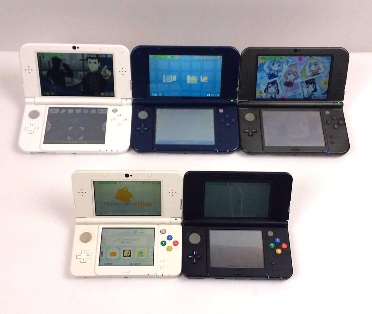 Nintendo NEW 3DS LL 計5台 液晶○ ヒンジ割なし 動作未確認 NINTENDO 3DSLL