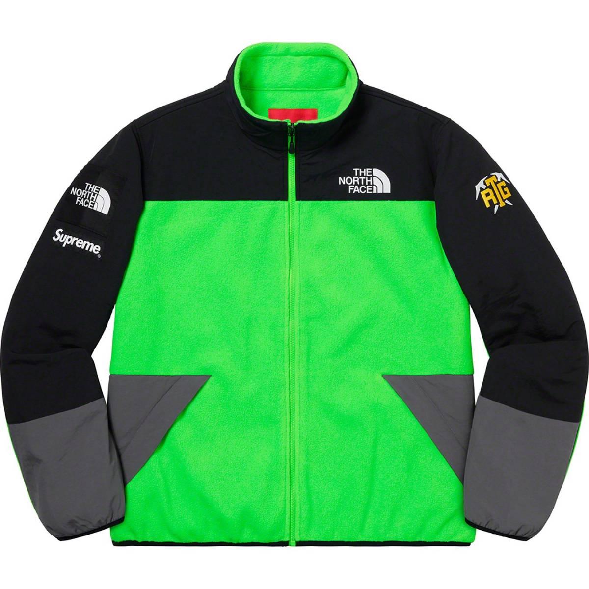 Supreme The North Face RTG Fleece Jacket 緑 BrightGreen Sサイズ 国内正規購入 タグ有 シュプリーム ノースフェイス フリースジャケット_画像5